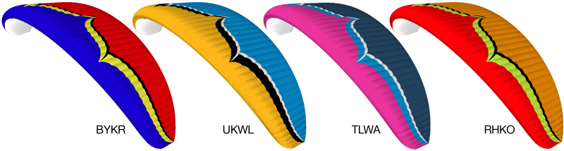 Ozone Spyder 3 Glider Colors